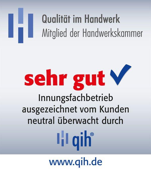 qih-Qualitätssiegel - ausgezeichnet vom Kunden